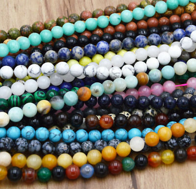 Wholesale Natural Gemstone Round Spacer Loose Stone Beads 4MM 6MM 8MM 10MM 12MM