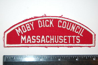 Mass Boy Scout MOBY DICK COUNCIL / MASSACHUSETTS  Red & White Patch
