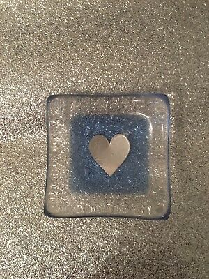 Jo Downs fused glass earring dish