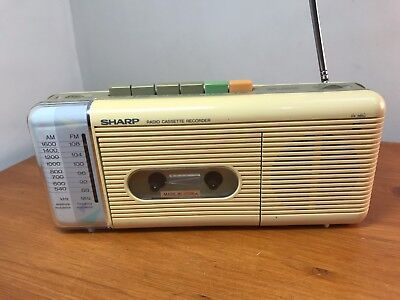 Retro SHARP QT27-212E (W) - Stereo Radio Cassette Player Radio tested working