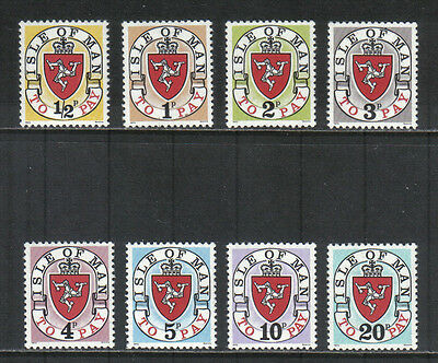 Isle of Man 1973 Coat of Arms postage due--Attractive Topical (J1-8) MNH
