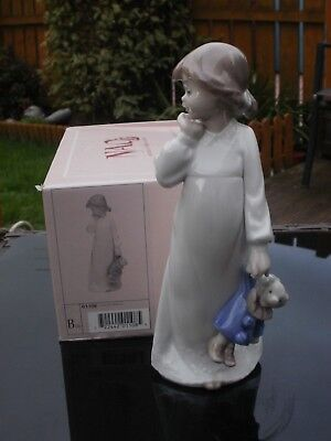 """RETIRED NAO by LLADRO FIGURINE """" MY RAG DOLL """"  #1108 GIRL & CLOWN DOLL - BOXED"""