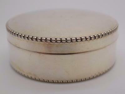 Vintage Solid Silver Italian Made Pill / Snuff Box, Stamped, Rounded