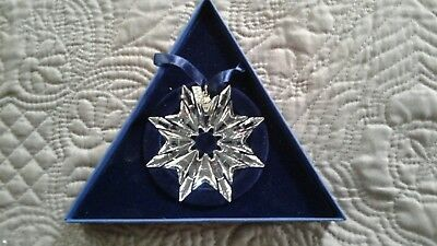 Swarovski 2003 Christmas ornament. Snowflake.Owned but never displayed.