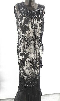 Gorgeous Antique Torn Sequin Net Gown Being Sold For Yardage