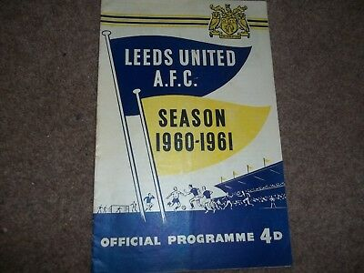 Vintage Leeds United V Rotherham United 27Th August 1960 1960/61 Programme