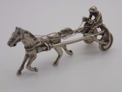 Vintage Solid Silver Italian Made Racing Horse Miniature, Figurine, Stamped