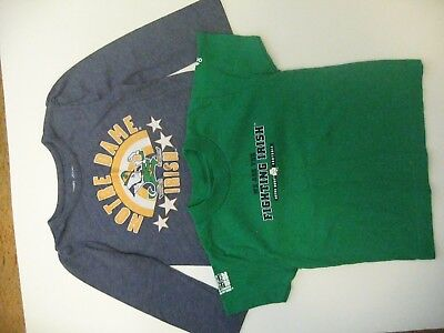 2 Toddler Girl's Notre Dame shirts, size 2T, one long sleeve,one short sleeve