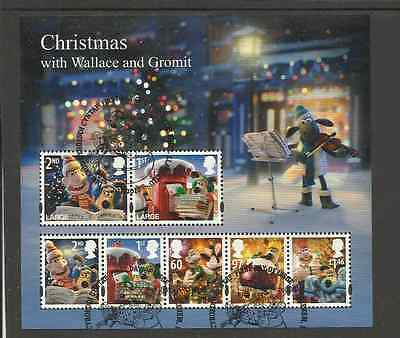 Ms3135 [2010] Gb Christmas-Wallace And Gromit Very Fine Used Mini Sheet