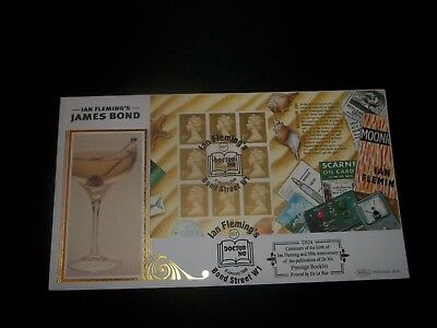 2008 James Bond Benham  (D524) Fdc - Ian Fleming, Bond Street  London