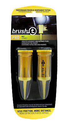 Pack of Brush T XLT Pro Jumbo Golf Tees -Distance, Consistent, Low Friction