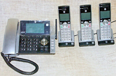 AT&T CL 84365 Phone with 3 Handsets Caller ID Answer System Intercom