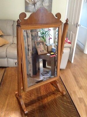 Good Quality Antique Mahogany Swing Dressing Table Mirror Reduced