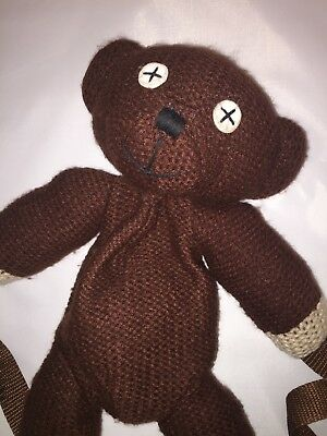 Mr. Bean's knitted teddy bear backpack - vintage - Rare collectors item (157)