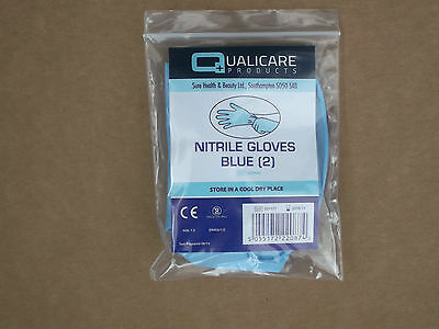 Pair Nitrile Glove Blue, Size Large, Security, First Aid,