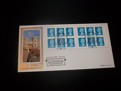 2009 2Nd Class Stamp Book  Benham  (D561) Fdc -  Royal Mail, Windsor