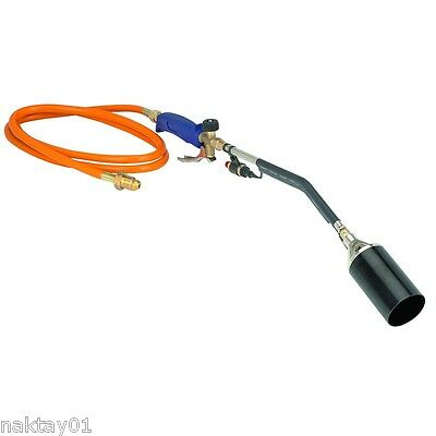 Push Button Igniter Propane LP Gas Torch Burner Melt Ice Snow Remove Paint Weeds