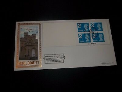 2009 2Nd Class Large Letter Stamp Book Benham (D563) Fdc - Royal Mail, Oxford