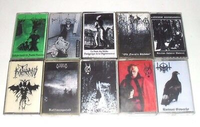Lot Of 10xAudio MC Cassette Tapes/Black Metal/DEMO/Peste Noire/USED AS BLANKS