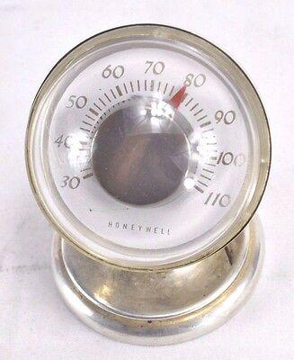 Tiffany & Co Makers Sterling Silver Desk Thermometer Honeywell Bates 25007