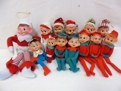 Vintage Elf on the Shelf Lot of 13 Variety