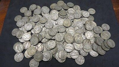 35% Silver War Nickels 1942-1945 Bullion US Coins, You Choose How Many!