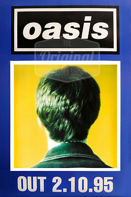 Original litho-printed Oasis tour poster - Whats the story morning glory (blue)