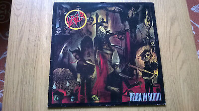 Slayer Reign In Blood original 1986 DEF JAM Lp and inner. VERY GOOD +. VERY RARE