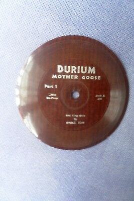 Very Rare Early Durium Plastic 4 Inch Gramophone Record For The Nursery Player