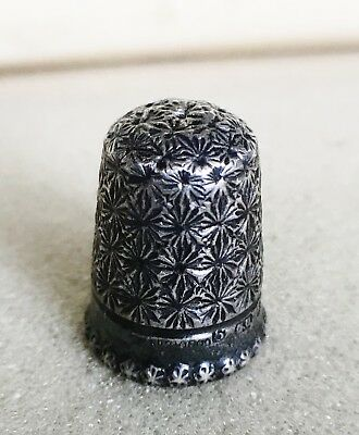 Solid silver thimble 1896