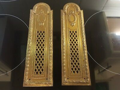 brass door finger plates