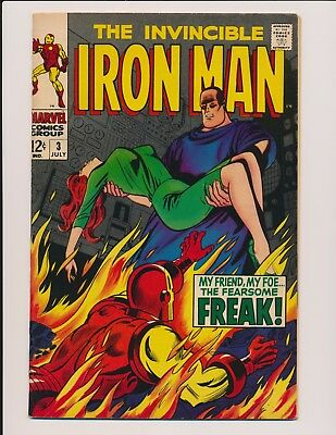 Marvel Comics Iron-Man #3 1968 - High Grade Vf-Vf/nm Happy Hogan Freak
