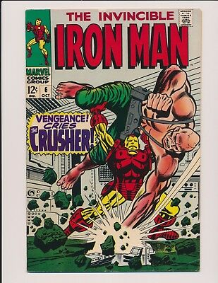 Marvel Comics Iron-Man #6 1968 - High Grade Fn-Vf+ George Tuska Art