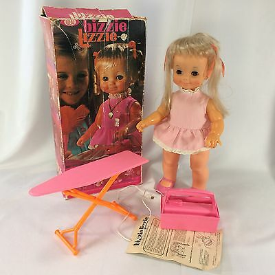 BIZZIE LIZZIE Doll Ideal Box Original Outfit Instructions Power Pack Iron Board