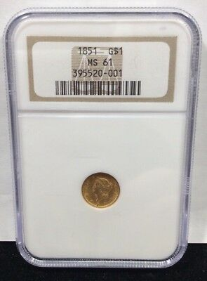 1851 $1.00 Gold Liberty Head NGC MS61
