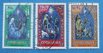 Zimbabwe 1994 Christmas  Part Set Sg 883/885 & 886 Fu