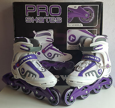 Womens AIRWALK Pro Inline Skates, Purple & White, UK Size 6.