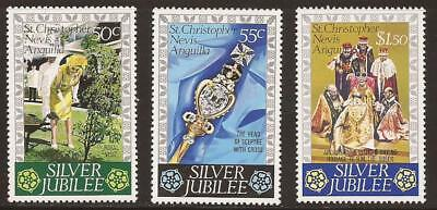 ST CHRISTOPHER NEVIS ANGUILLA - 1976 - SG367/9 - Silver Jubilee - MNH - (JB282)
