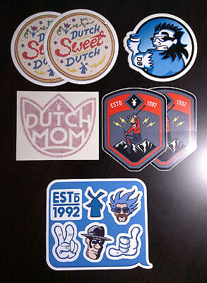 Lot of 7 Dutch Bros Coffee Stickers Decals, New