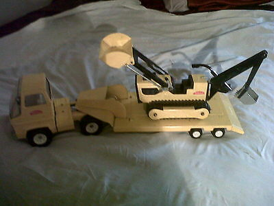 Vintage Tonka Toy Transporter and Trencher