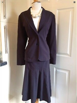 STITCHES AUSTRALIA (TK MAXX) Black Skirt Suit UK 12, Euro 40 in Good Condition