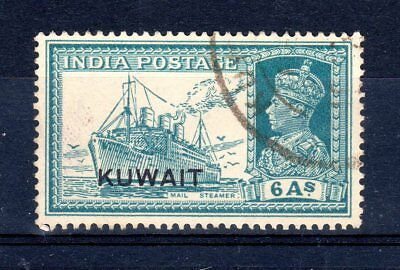 Kuwait 1939 six annas sg44 used cat £23.00