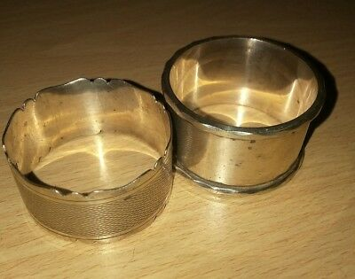 2 antique silver napkin rings