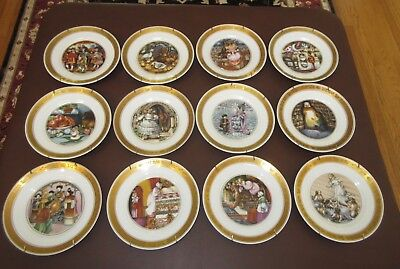 Royal Copenhagen -(12) Hans Christian Andersen Plates -1975 - Numbered