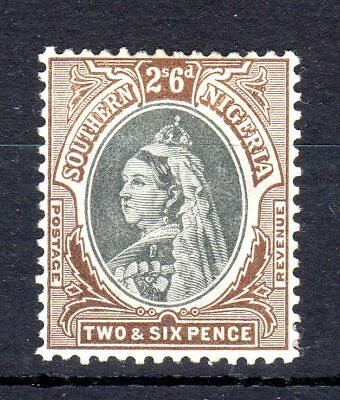 Southern Nigeria 1901/2 two shillings and sixpence sg7 mounted mint cat £48.00