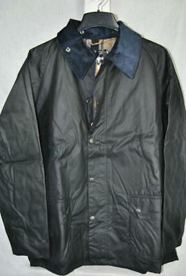 Barbour BEDALE Jacket Waxed Cotton Barn Coat Tartan AUTHENTIC Navy Mens 50 New