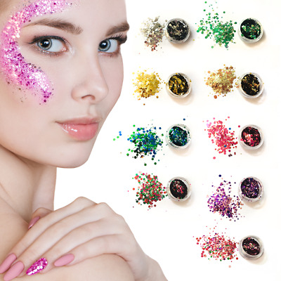 Chunky Mixed Cosmetic Glitter Nail Face Eye Body Unicorn Mermaid Festival Dance