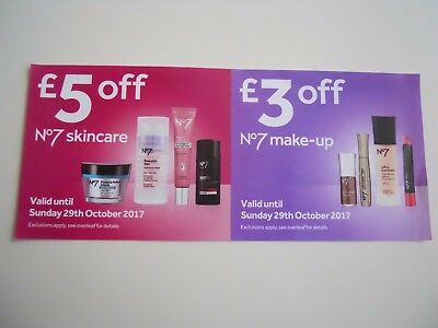 Boots No7 Vouchers £5 off skincare & £3 off make-up Valid till 29th October
