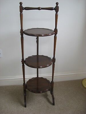antique wooden cake stand, Edwardian wooden cake stand, 3 tier cake stand