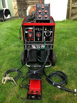 Cebora 150A Dc Tig/stick Welder With Foot Peddle And Pulse Switch Box 2X Reg